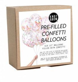 Knot and Bow Confetti Balloons - Multicolor