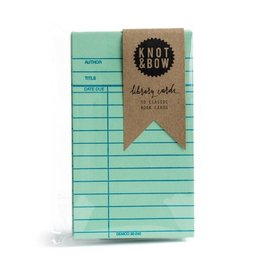 Knot and Bow Library Cards - Green