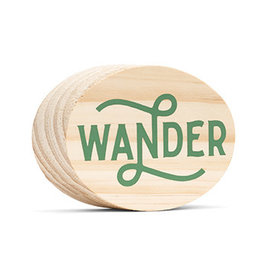 Compendium Wander Wooden Sign
