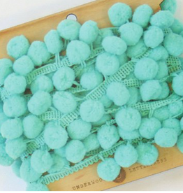 Underwood Press Aqua Pom Pom Trim