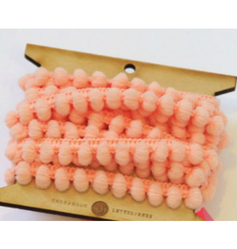 Underwood Press Peach Mini Pom Pom Trim