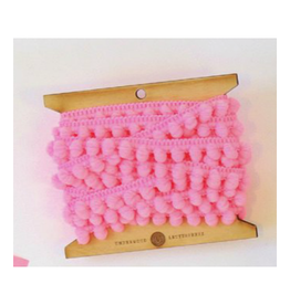 Underwood Press Pink Mini Pom Pom Trim