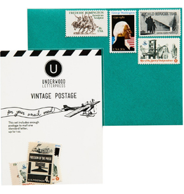 Underwood Press Vintage Postage, Black & White
