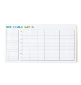 Free Period Press Weekly Schedule Magic Notepad