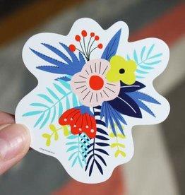 Free Period Press Flowers Sticker