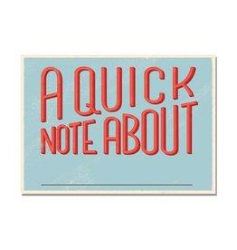 Free Period Press A Quick Note Postcard