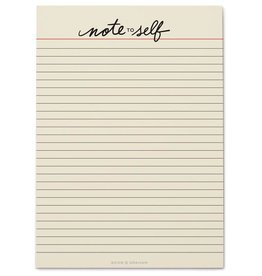 Snow & Graham Note to Self Notepad