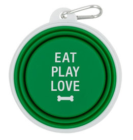 About Face Eat Play Love Silicone Bowl