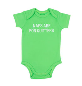 About Face Naps are for Quitters Onesie, 3-6 Mo.