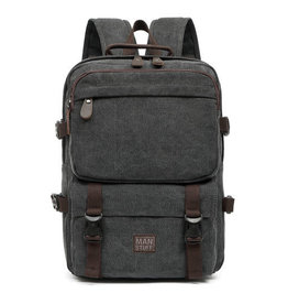 About Face Black Back Pack