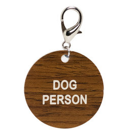 About Face Dog Person Key Tag