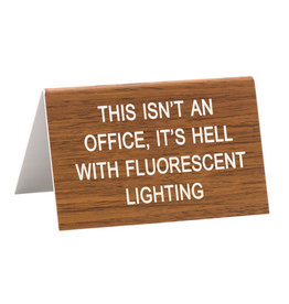 About Face Fluorescent Lighting Sign