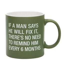 About Face Remind Him Mug