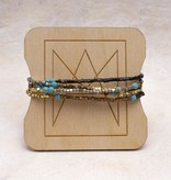Amy Margaret Turquoise Cube & Stone Bracelet/Necklace