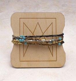 Amy Margaret Turquoise Cube & Stone Bracelet/Necklace
