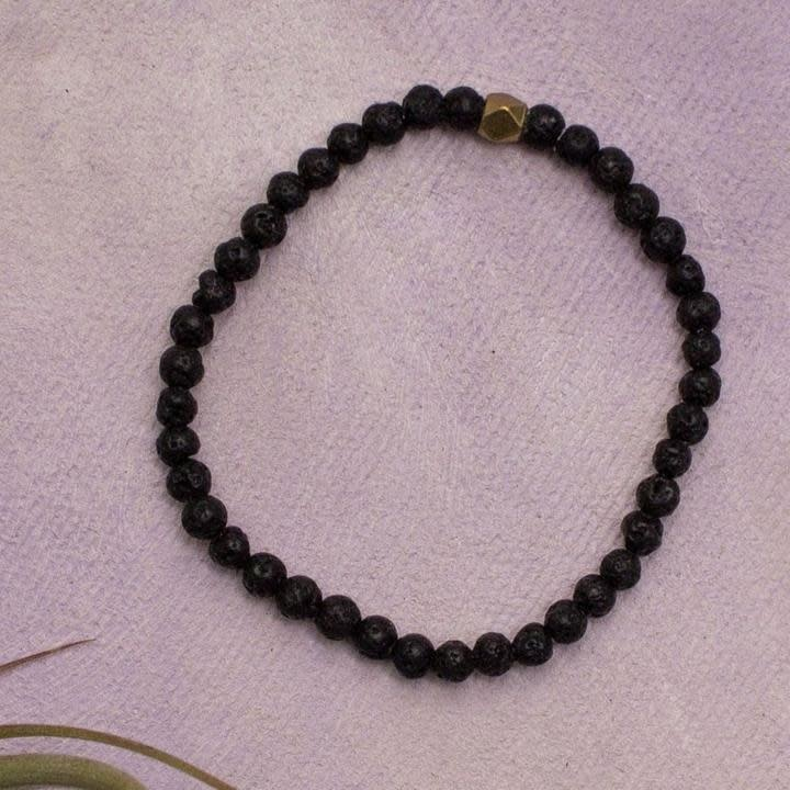 Amy Margaret Lava Diffuser Bracelet, 4mm