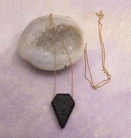 Amy Margaret Geometric Lava & Chain Diffuser Necklace, Diamond