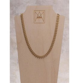 Amy Margaret Harper Chevron Chain Choker, Gold