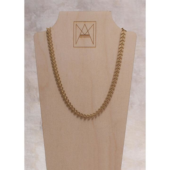 Amy Margaret Harper Chevron Chain Choker, Gold