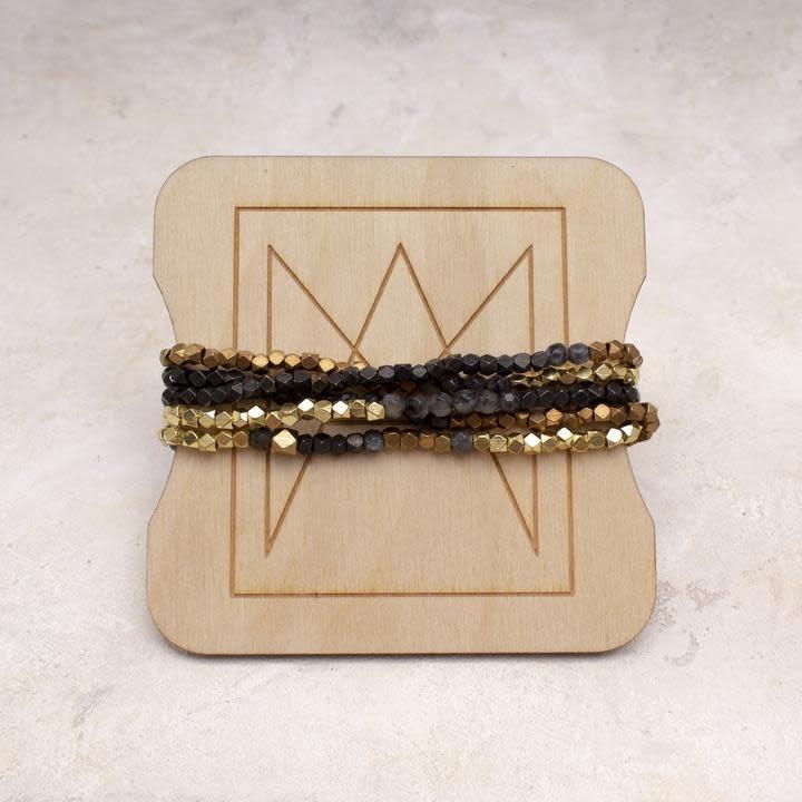 Amy Margaret Black Onyx Hex & Stone Bracelets