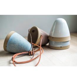 Maek Ceramics Hanging Cone, Mauve