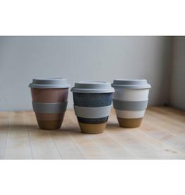 Maek Ceramics Small Travel Mug, White