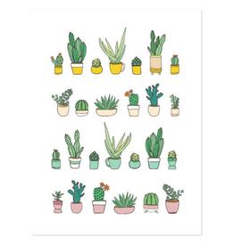 Humdrum Paper Succulents Print, 12x16