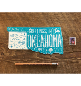 Noteworthy Paper & Press Oklahoma State Postcard