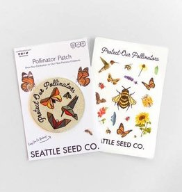 Seattle Seed Co. Pollinator Pride Patch & Sticker Set