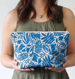 Casey D. Sibley Lg. Travel Pouch - Tropical Cobalt