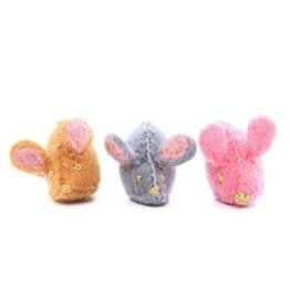 The Foggy Dog Mouse Cat Toy, Brown