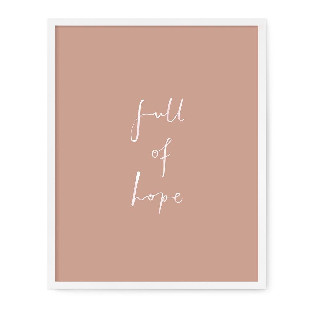Our Heiday Full of Hope Print, 8x10