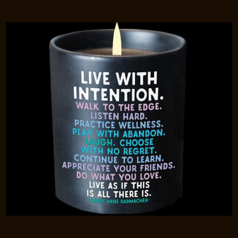 Quotable Live With Intention Candle