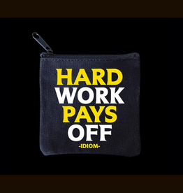Quotable Hard Work Mini Pouch