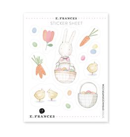 E. Frances Easter Sticker Sheet