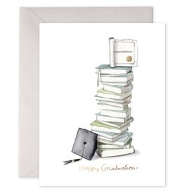 E. Frances Grad Book Stack Card