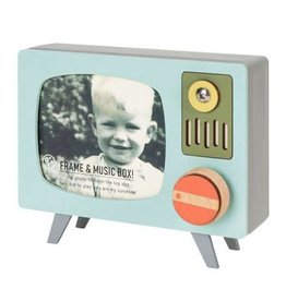 Tree Turquoise Retro TV Music Box