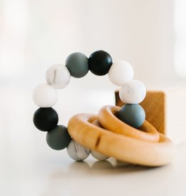 Bannor Toys Saturn Ring Teether, Gray/Black