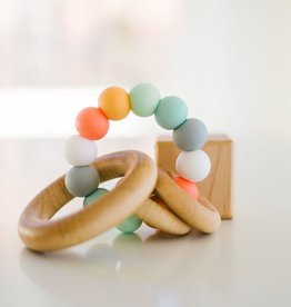Bannor Toys Saturn Ring Teether, Pastels