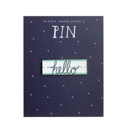 Mr. Boddington's Studio Hello Enamel Pin