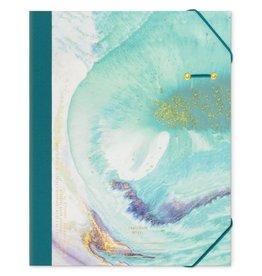 Design Works Teal Marbled Portfolio