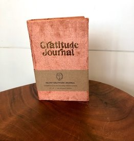 Printfresh Mini Velvet Gratitude Journal, Rust