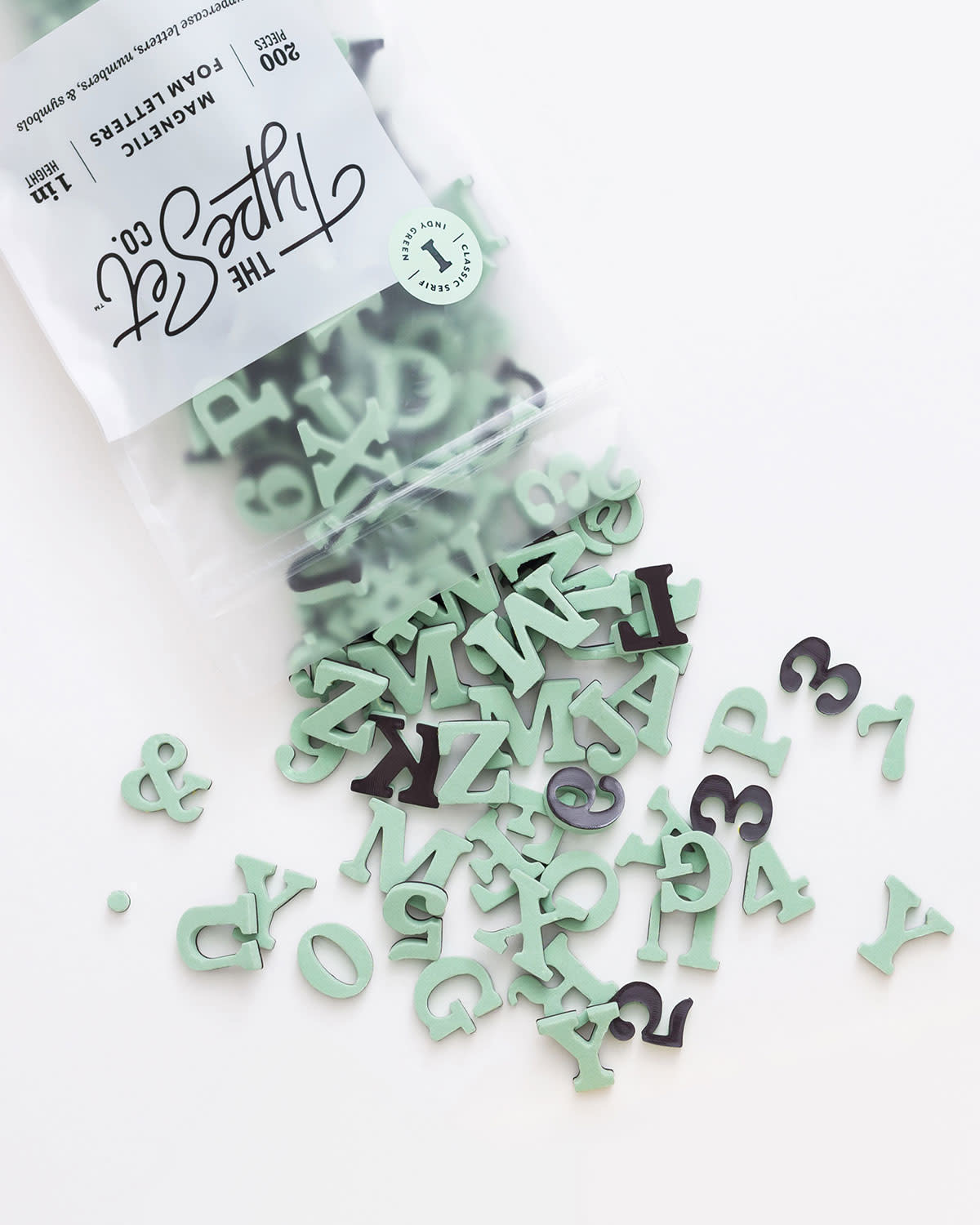 The Type Set Co. Magnetic Letters - Indy Green