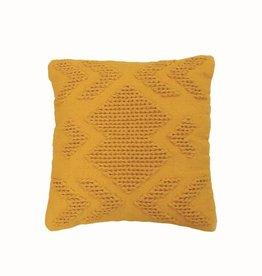 Foreside Nia Pillow, Mustard