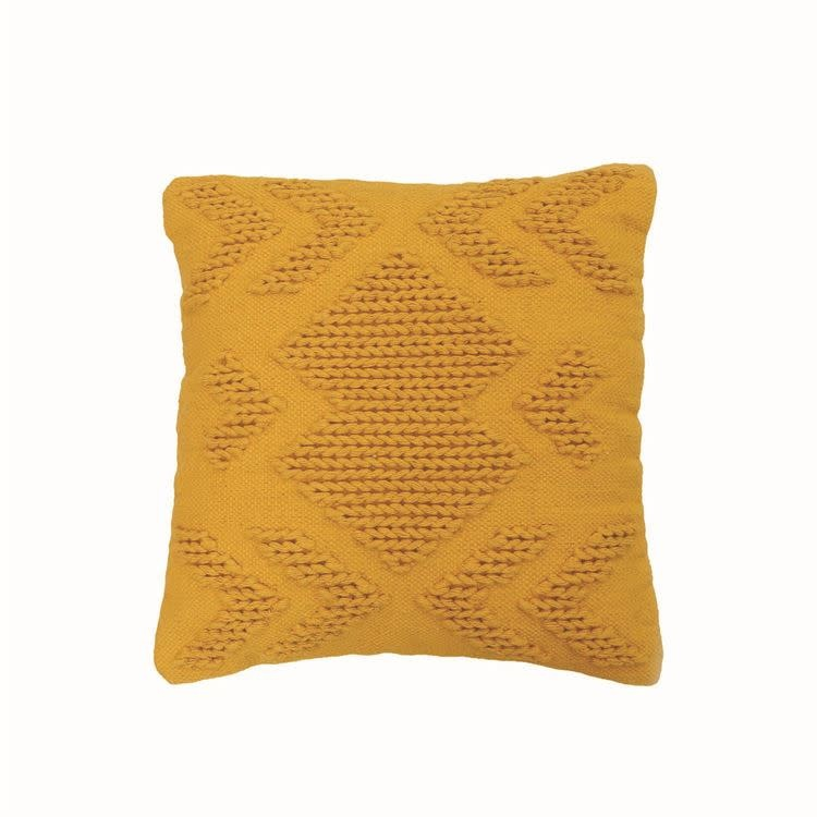 Foreside Nia Pillow, Mustard