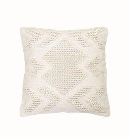 Foreside Nia Pillow, White