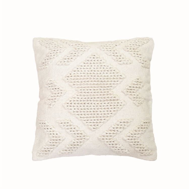 Foreside Nia Pillow, White