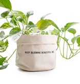 SugarBoo Designs Canvas Planter: Keep Blooming, Lg