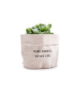 SugarBoo Designs Plant Kindness Canvas Planter, Sm