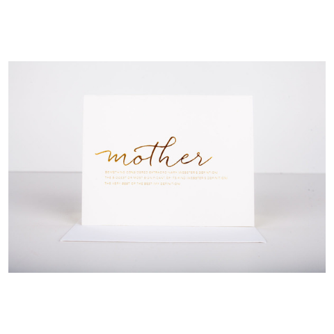 Wrinkle and Crease Mother Greeting Card